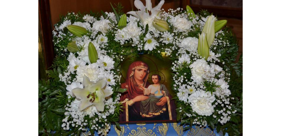 иерусалимская икона в цветах